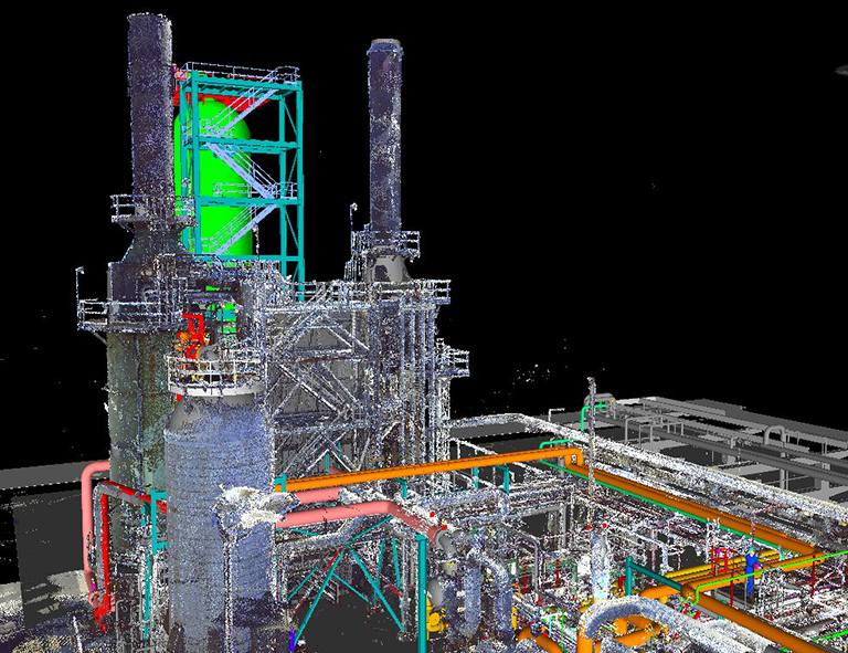 Refinery laser scan